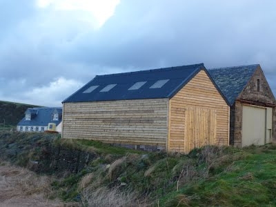 Replacement timber boat shed